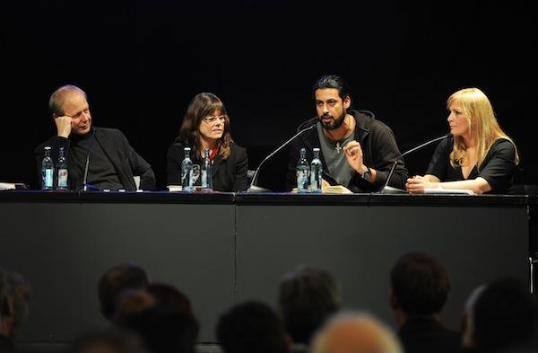 Der jeweils individuelle Blick auf Deutschland - Tom Buhrow, Sabine Stamer, Abbas Khider und Anja Ohmer im Gespräch (v.l.n.r.). Foto: Karin Hiller/Medienzentrum Landau
