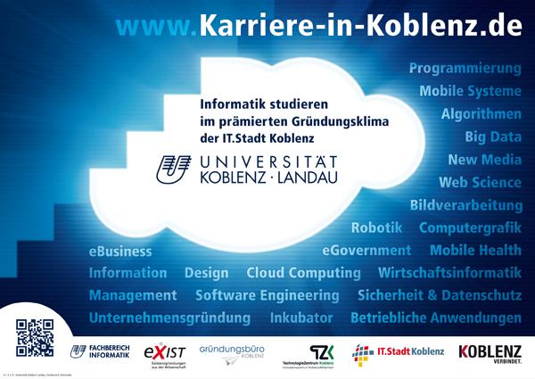 Dieses Plakat wirbt für das Studium in der IT-Stadt Koblenz.