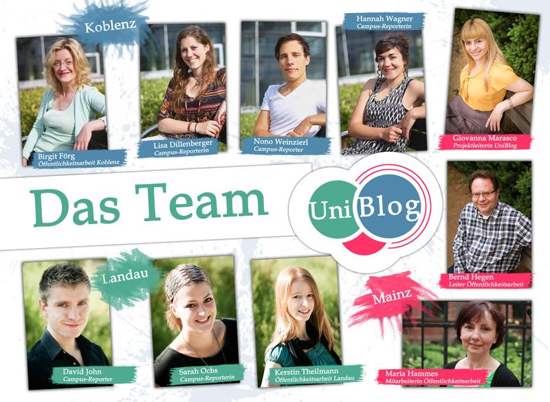 Das UniBlog-Team. Fotos: Weinzierl, Hiller, John/ Collage Weinzierl