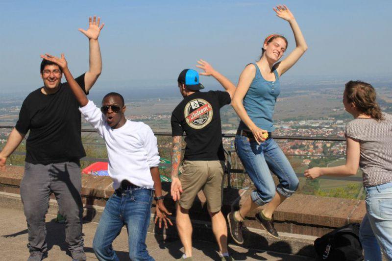 Die Hochschulgruppe IPAS hilft Austauschstudenten zu einem guten Start in Landau - dabei darf der Spaß nicht fehlen. Quelle: IPAS