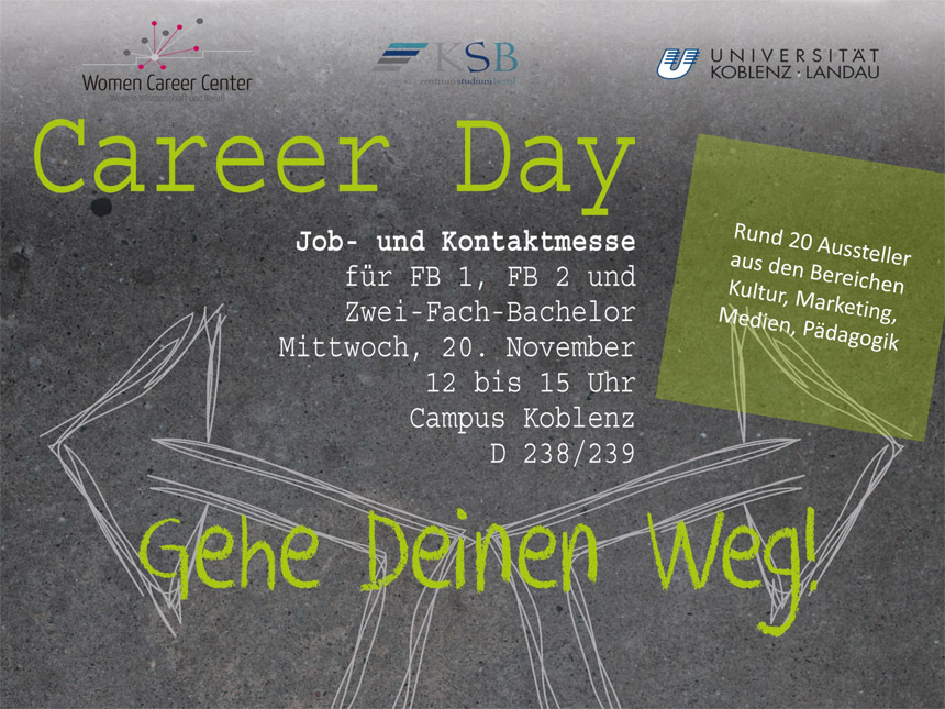 Career Day am Campus Koblenz.
