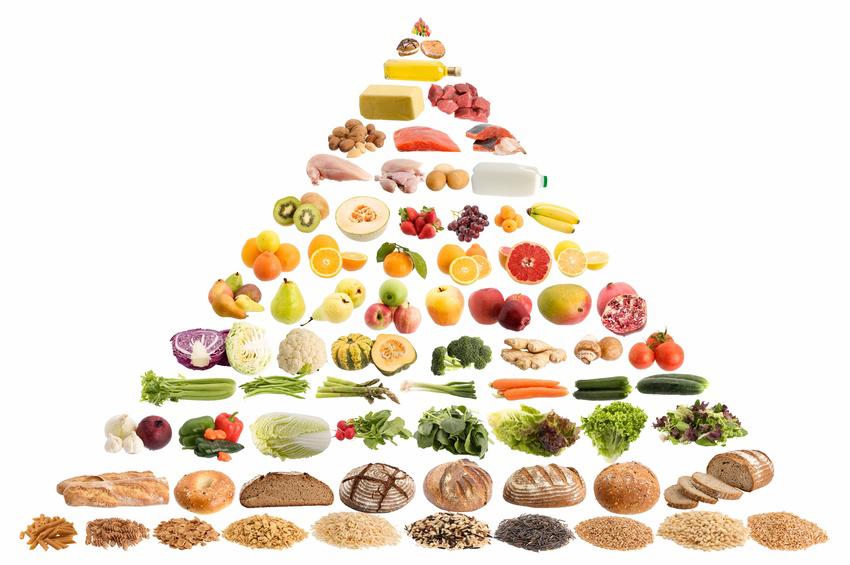 Die Ernährungspyramide zeigt, wie man sich ausgewogen ernähren kann. Foto: Fotolia/ shahrohani