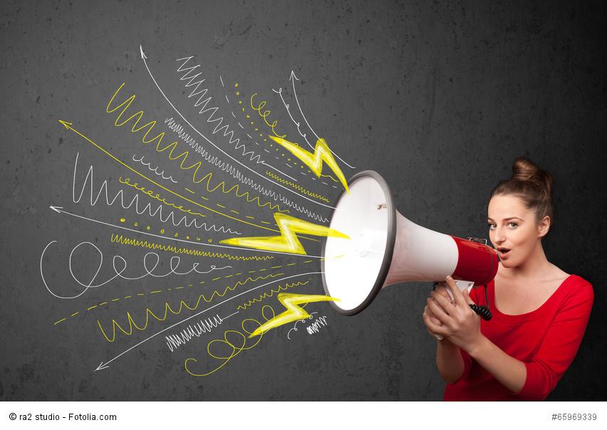Was hat es auf sich mit der weiblichen Rede? Der erste Rhetorik-Slam Landau gibt Aufschluss. Foto: Fotolia - ra2 studio