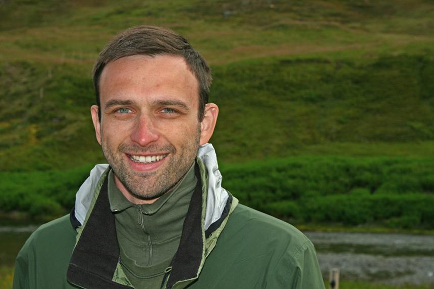 Ronny Richter auf einer Exkursion in Island. Foto: Prof. Dr. Eberhard Fischer
