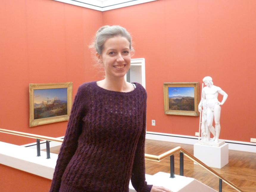 Claudia Fischer studiert Bildende Kunst und Darstellendes Spiel in Landau. Foto: Carolin Höring