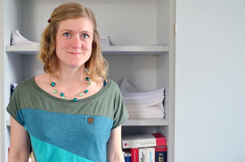 Die Diplom-Sozialwissenschaftlerin Carolin Jansen forscht zumThema politisches Agenda-Setting. Foto: Angela Gräsel