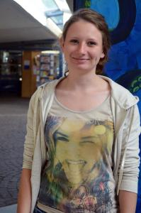 Vanessa Steinle (20), Förderlehramt Biologie und Deutsch. Foto: Gräsel
