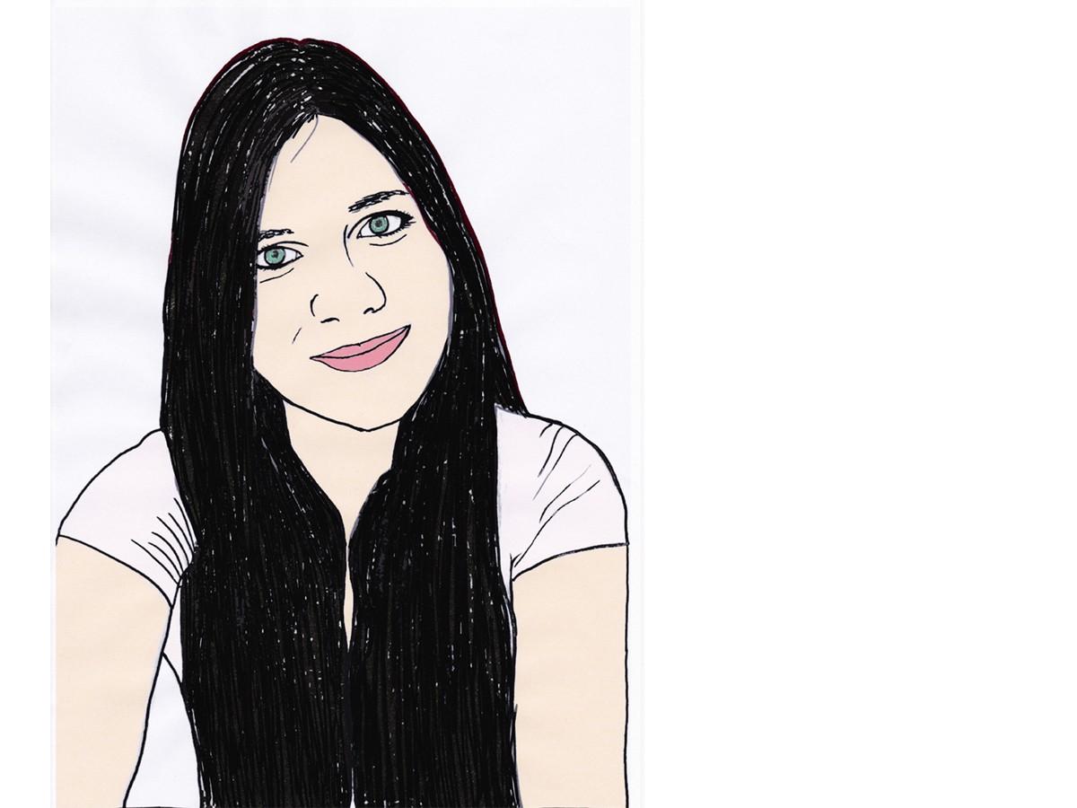 Heute schreibt Campus-Reporterin Esther Bauer. Zeichnung: Carolin Höring.