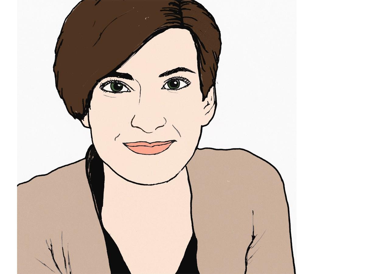 Heute schreibt Campus-Reporterin Sandra Erber. Zeichnung: Carolin Höring.