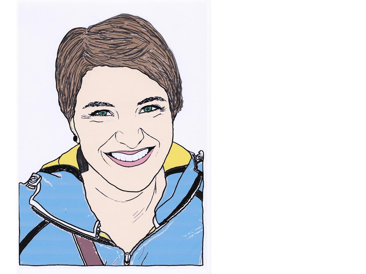 Heute schreibt Campus-Reporterin Clara Jung. Zeichnung: Carolin Höring.