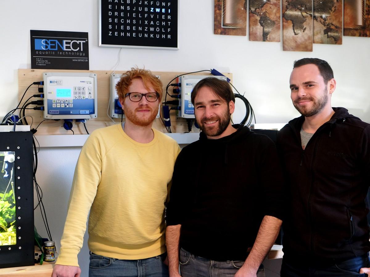 Erfolgreich dank Start-Up: Sebastian Geißler (29), Doktor Andreas Mäck (36) und sein Bruder Florian Mäck (32) in ihrem Landauer Büro. Fotos: Leyerer