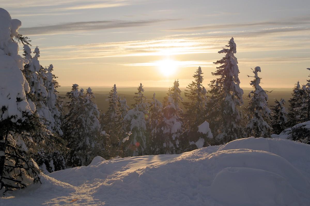 Matthias Deisen aus Koblenz studiert seit Januar im verschneiten Finnland und ist begeistert. Foto: Privat.