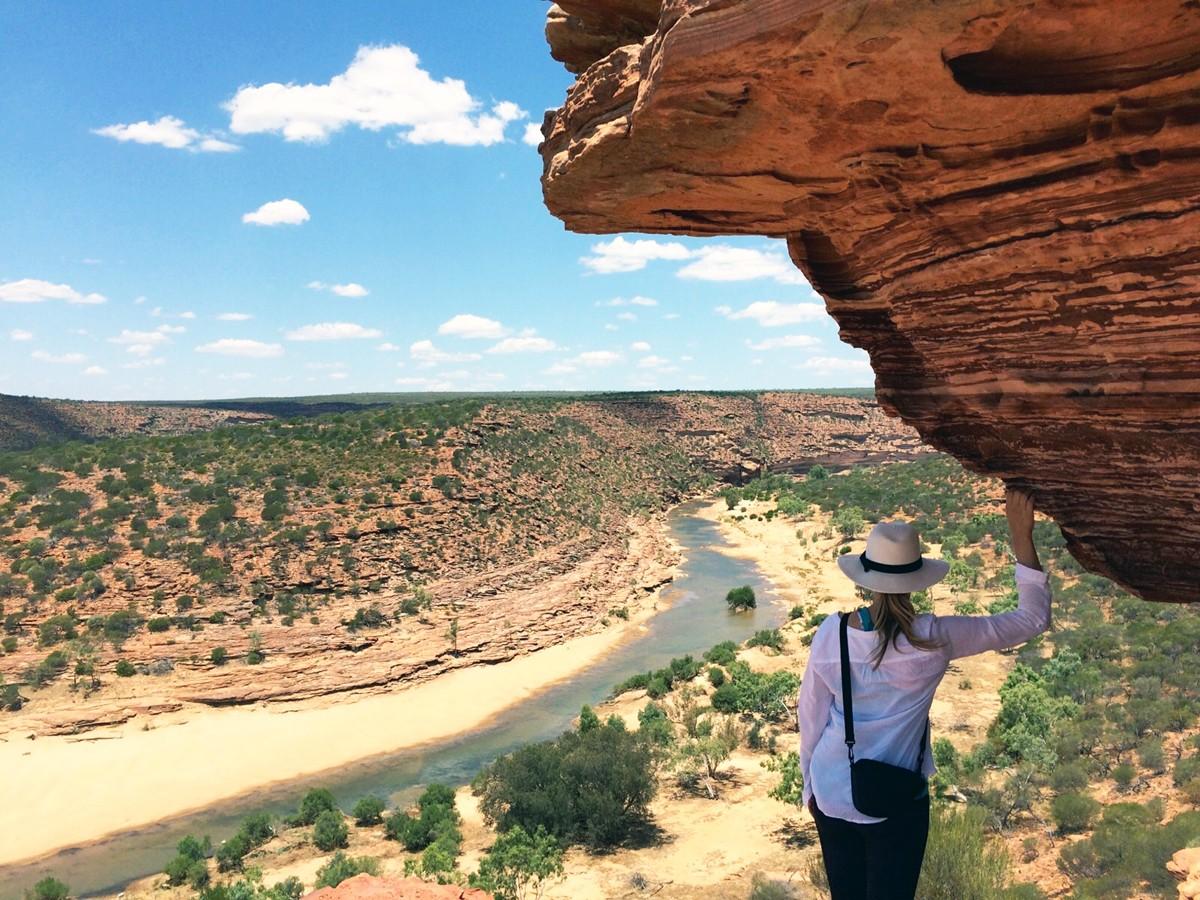 Während ihres Aufenthaltes in Australien lernte Constanze Schreiner nicht nur die Ostküste kennen, sondern bereiste auch die weniger touristische Westküste nördlich von Perth - hier am Nature's Window im Kalbarri Nationalpark. Fotos: Privat