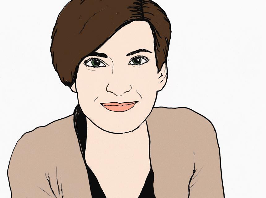 Campus-Reporterin Sandra Erber berichtet heute von einer Sucht, die vor allem unter Studierenden verbreitet ist: Serien schauen im Akkord. Zeichnung: Carolin Höring.