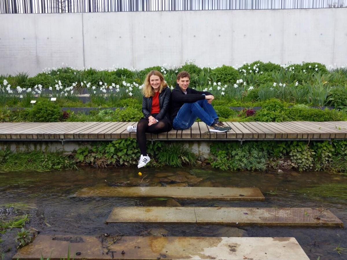 Marie Rütten, BA. Psychologie, 2. Semester und Jonas Gatta, Versicherungskaufmann. Foto: Enya Höffner