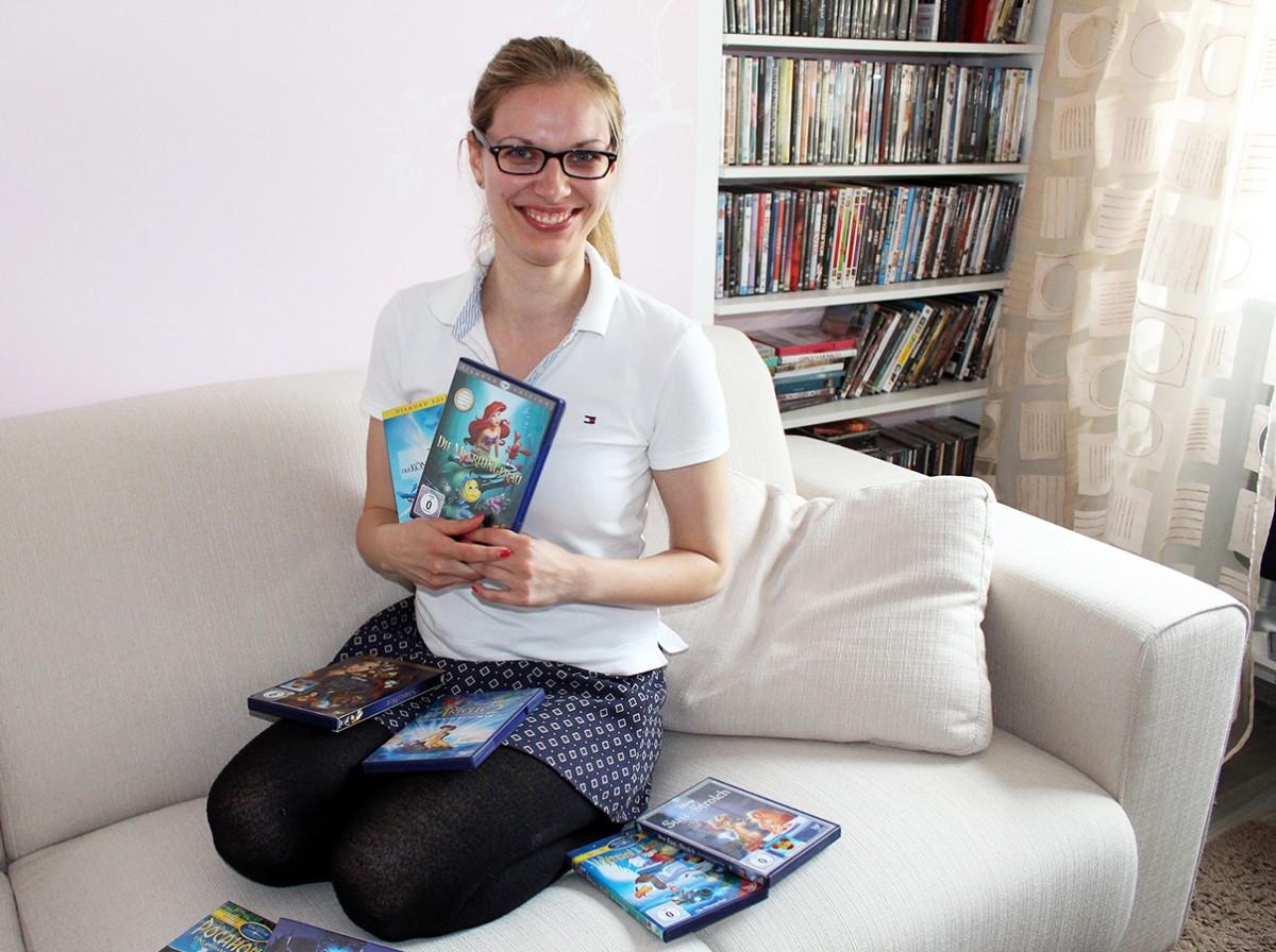 Arielle, Hercules und Co.: Schon als Kind begeisterte sich Kalnicki für Disney-Filme und hat auch ihre Bachelorarbeit dem Thema gewidmet. Foto: Esther Bauer
