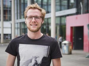 André Schneider ist Stipendiat des Deutschlandstipendiums. Foto: Marius Adam