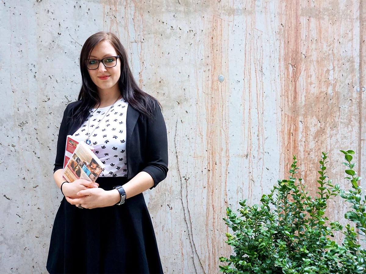 Caroline Marker ist Psychologin und Doktorandin am Institut für Medienpädagogik und Kommunikationspsychologie. Foto: Constanze Schreiner