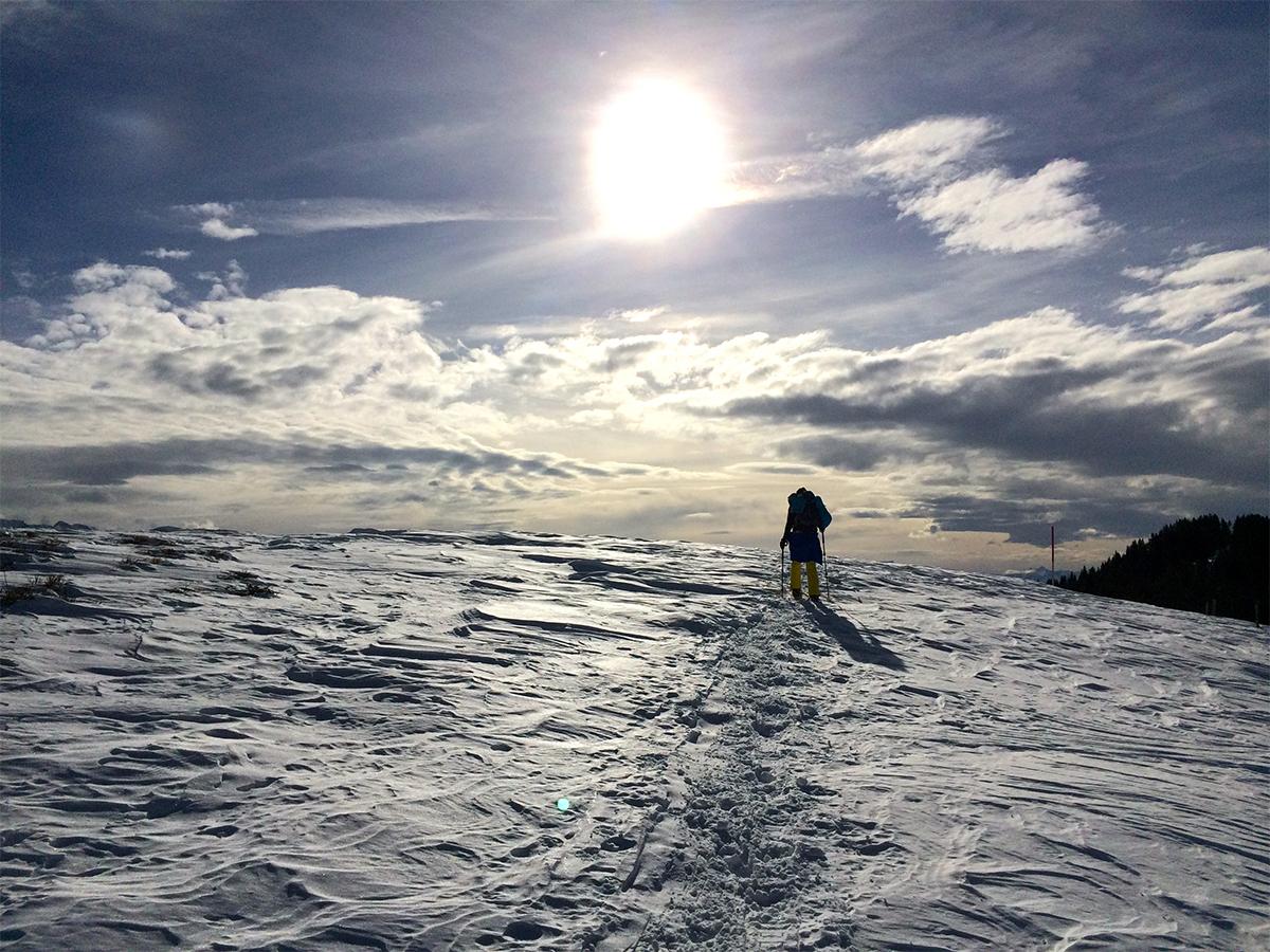 Reporterin Constanze Schreiner genoss die traumhafte Kulisse, die die Natur ihr in den Alpen bot. Foto: Privat