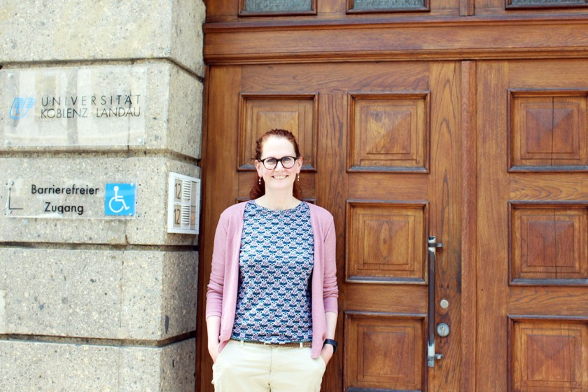 Dr. Kathrin Ruhl ist Geschäftsführerin des IPZ und des KSB der Universität Koblenz-Landau und unterstützt Nachwuchswissenschaftler. Fotos: Esther Guretzke