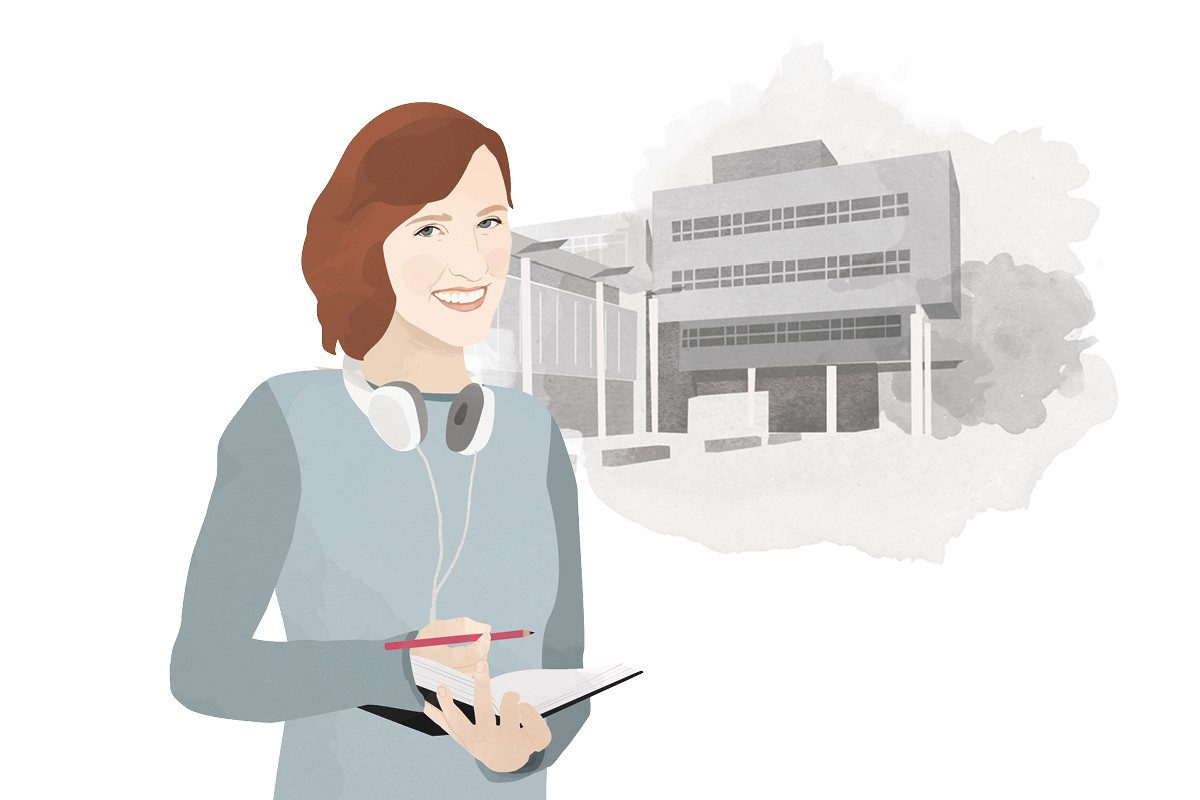 Heute schreibt Campus-Reporterin Lisa Engemann. Illustration: Designstudio Mathilda Mutant