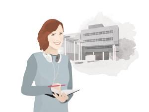 Heute schreibt Campus-Reporterin Lisa Engemann. Illustration: Designstudio Mathilda Mutant