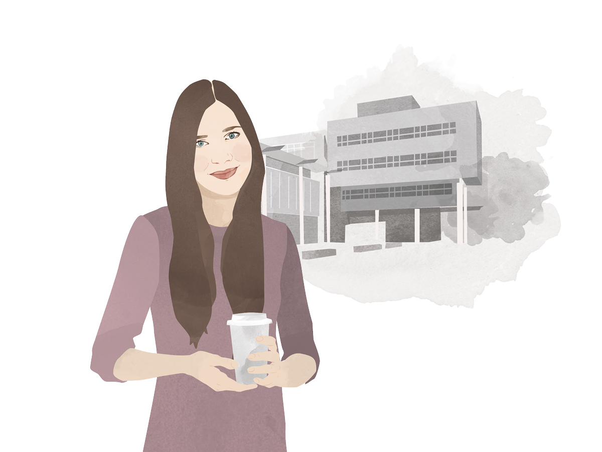 Heute schreibt Campus-Reporterin Esther Guretzke. Illustration: Designstudio Mathilda Mutant