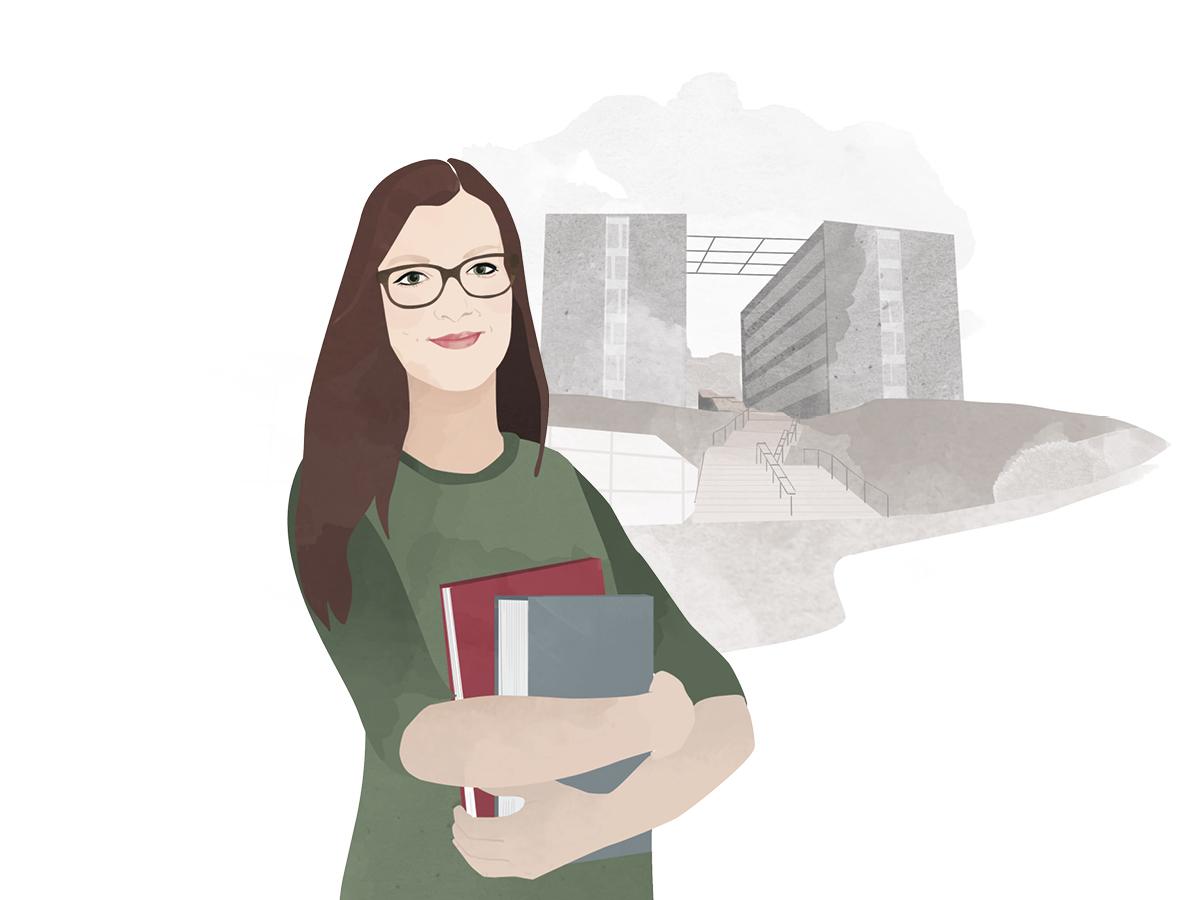 Heute schreibt Campus-Reporterin Nina Seel. Illustration: Designstudio Mathilda Mutant