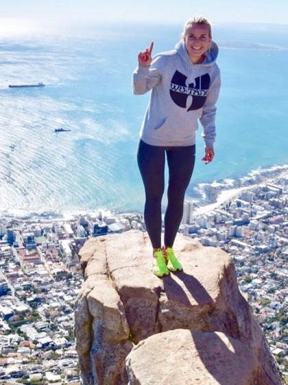 Der Sonne so nah: Hoch oben über Kapstadt ist die Aussicht auf den Atlantik atemberaubend. Fotos: Privat