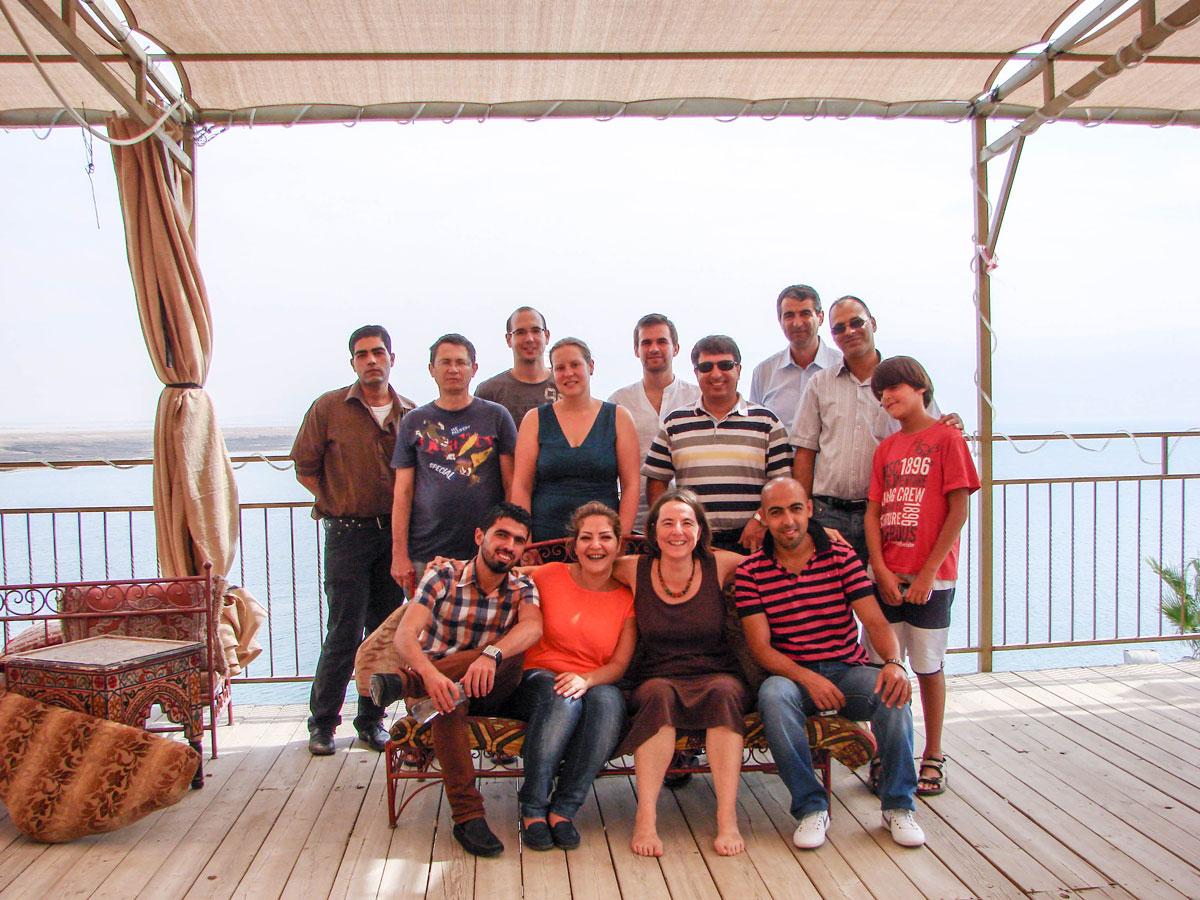 Das Trilat-Forschungsteam am Toten Meer. Foto: Joschua Schaumann