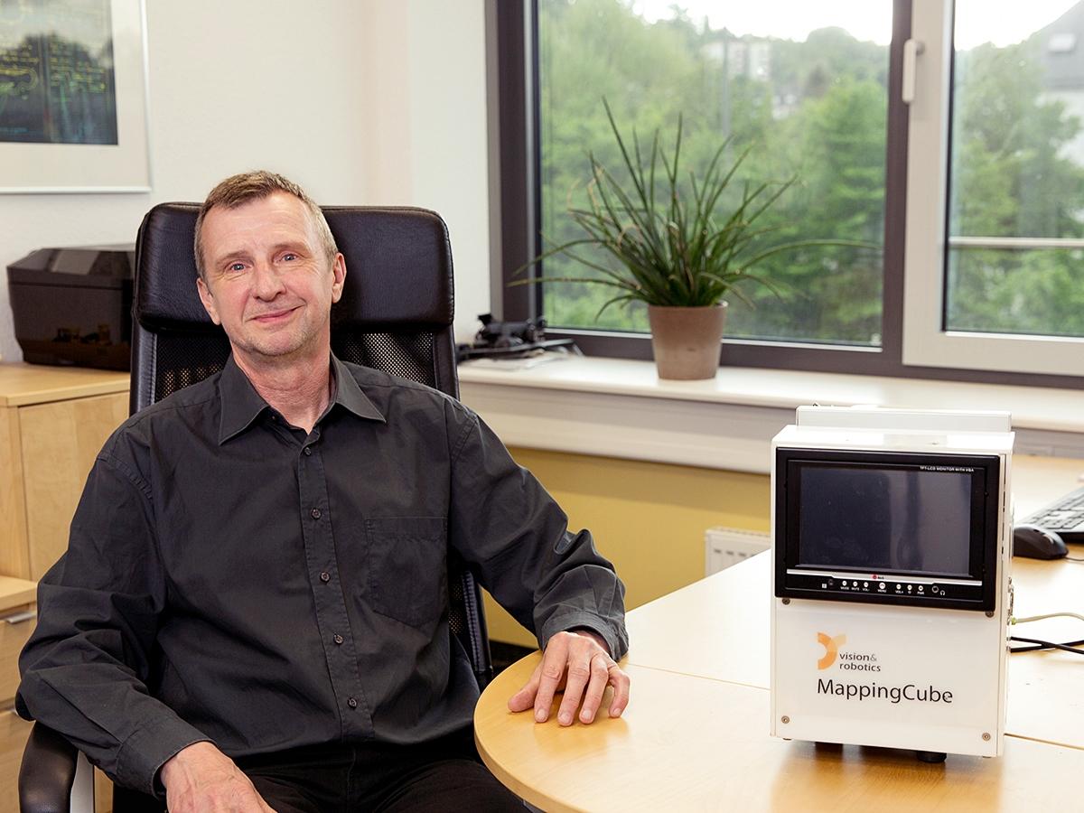 Prof. Dr.- Ing. Dietrich Paulus ist Geschäftsführer von V&R Vision & Robotics. Foto: Teresa Schardt