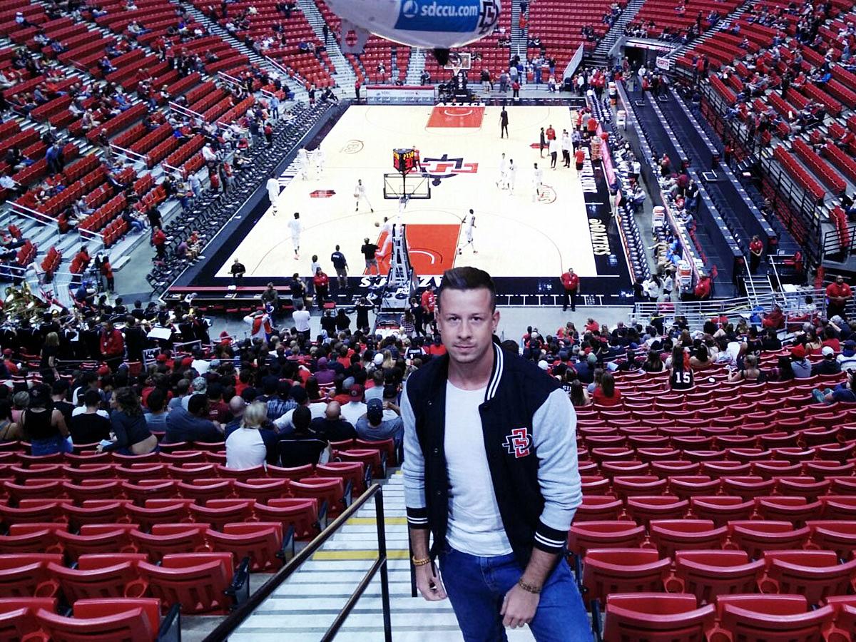 ...die Arena der Uni-Basketballmannschaft...
