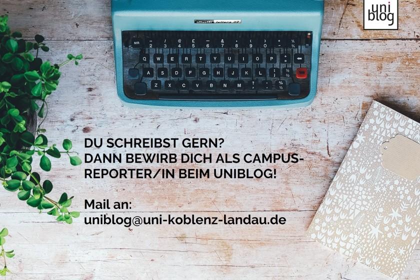 Der Uniblog sucht neue Campusreporter/innen. Foto: Unsplash