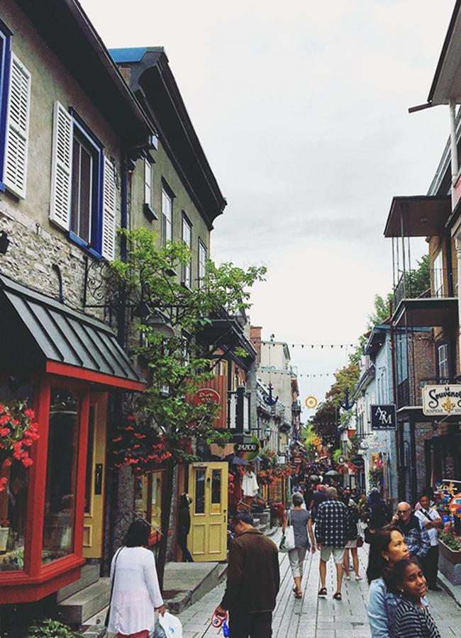 Quebécs Altstadt ist malerisch und erinnert an europäische Städte.