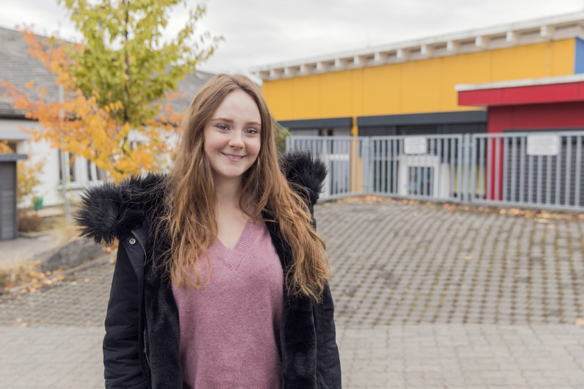 Sarah Sauer hat ein Praktikum einer heilpädagogischen Kindertagesstätte absolviert. Die Arbeit stellte sie vor besondere Herausforderungen. Foto: Teresa Schardt