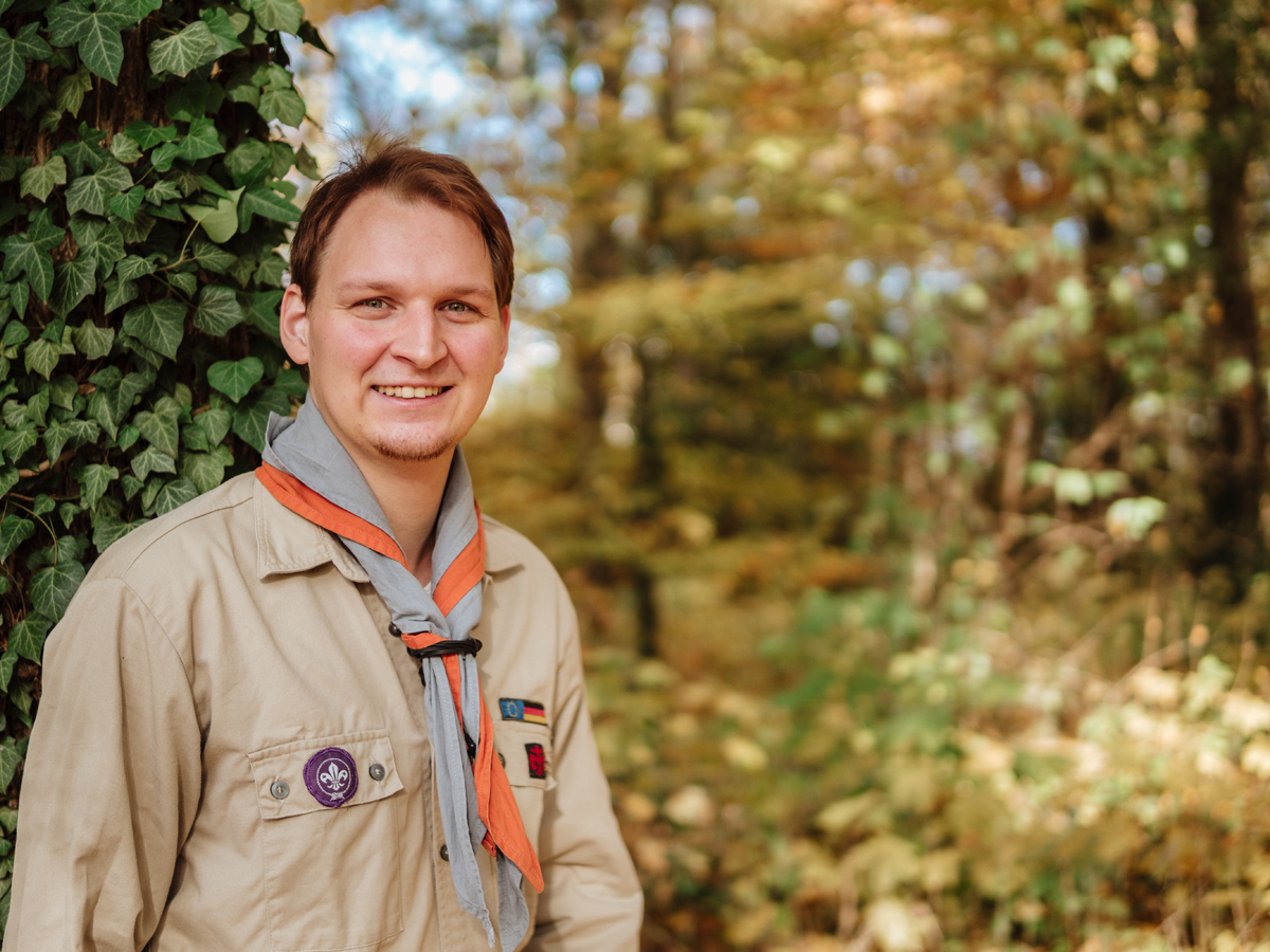Achim Ditscher studiert nicht nur Lehramt in Landau, sondern ist auch Leiter einer Pfadfindergruppe. Foto: Philipp Sittinger