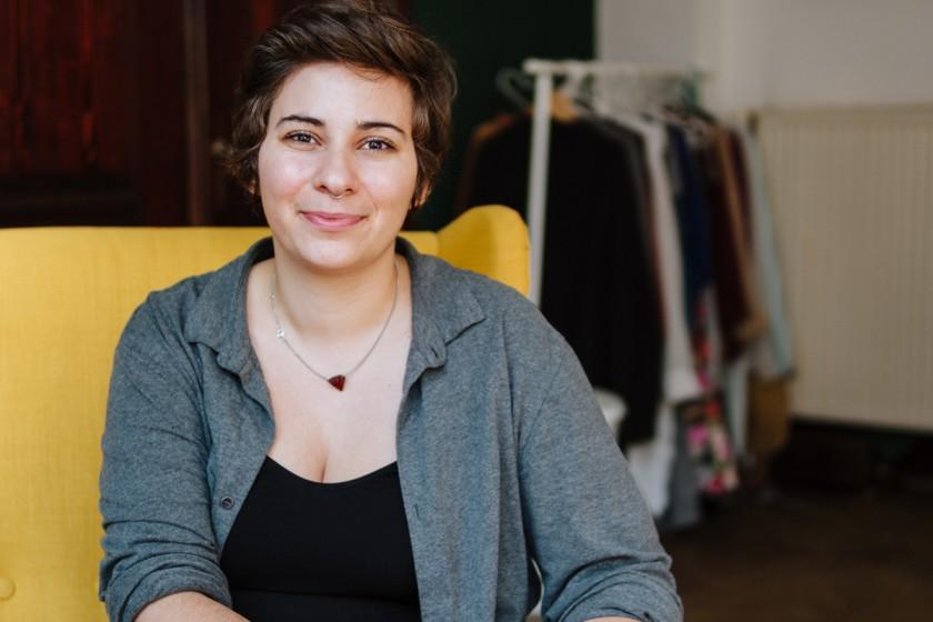 Außerhalb ihres Studiums der Sozial- und Kommunikationswissenschaften arbeitet Caroline Zielbauer bei der Landeszentrale für Politische Bildung Baden-Württemberg, Foto: Philipp Sittinger