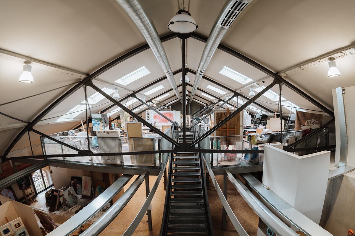 Die Reithalle in Landau ist die neue Heimat des Instituts für Kunstwissenschaften und Bildende Kunst. Foto: Philipp Sittinger