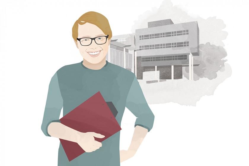 Heute schreibt Campus-Reporter René Lang. Illustration: Designstudio Mathilda Mutant