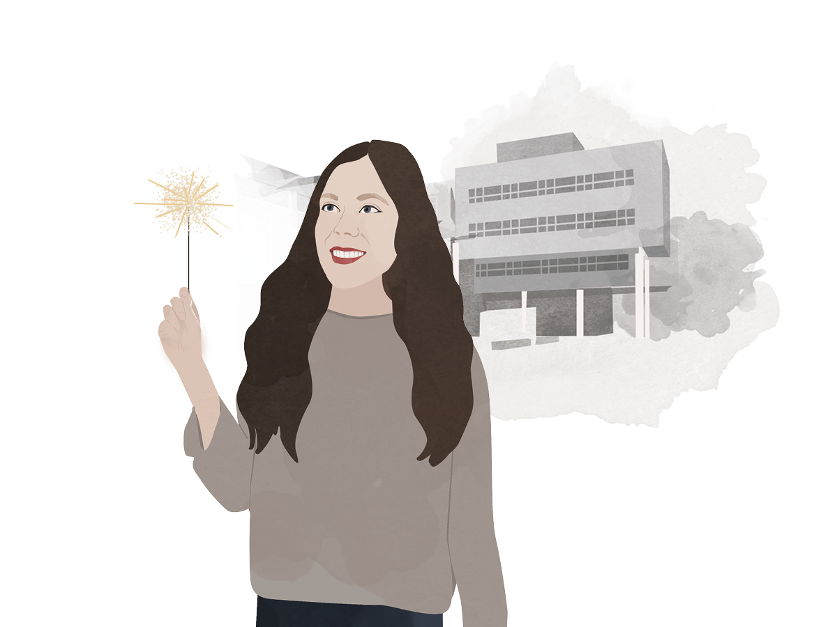 Heute schreibt Campus-Reporterin Emily Nolden. Illustration: Designstudio Mathilda Mutant