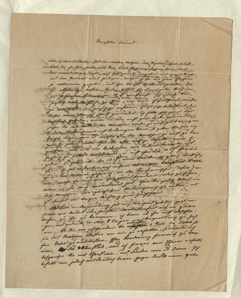 Ein Brief von Clemens Brentano an Hermann Josef Dietz. Foto: dilibri Rheinland-Pfalz