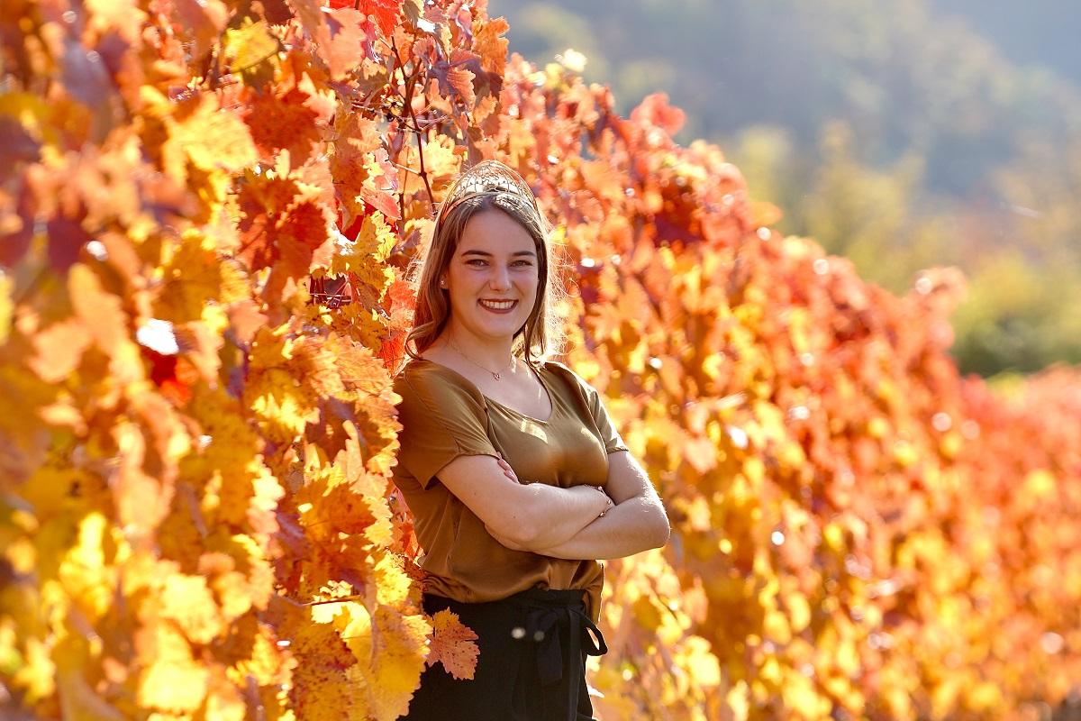 Eva Lanzerath war schon als Kind gerne in den Weinbergen unterwegs. Fotos: privat
